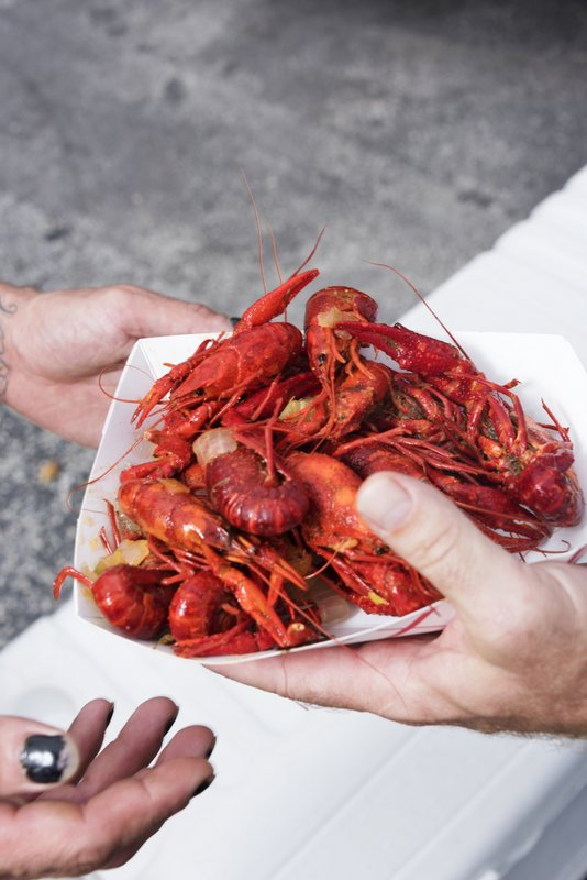 Picture of a plate of Lousiana Crawfish
