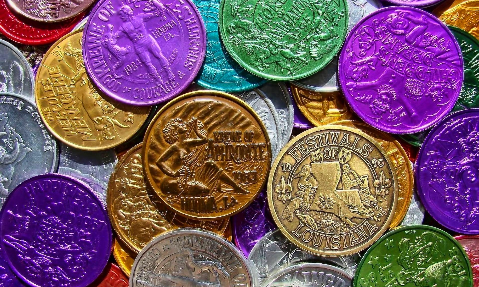 Picture of Multicolored Coins