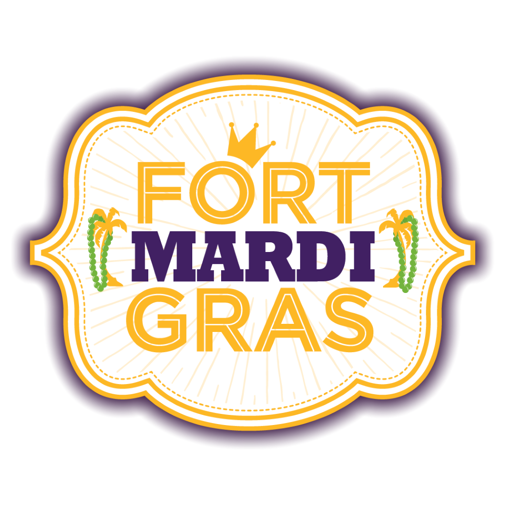 Image of the Fort Mardi Gras Logo