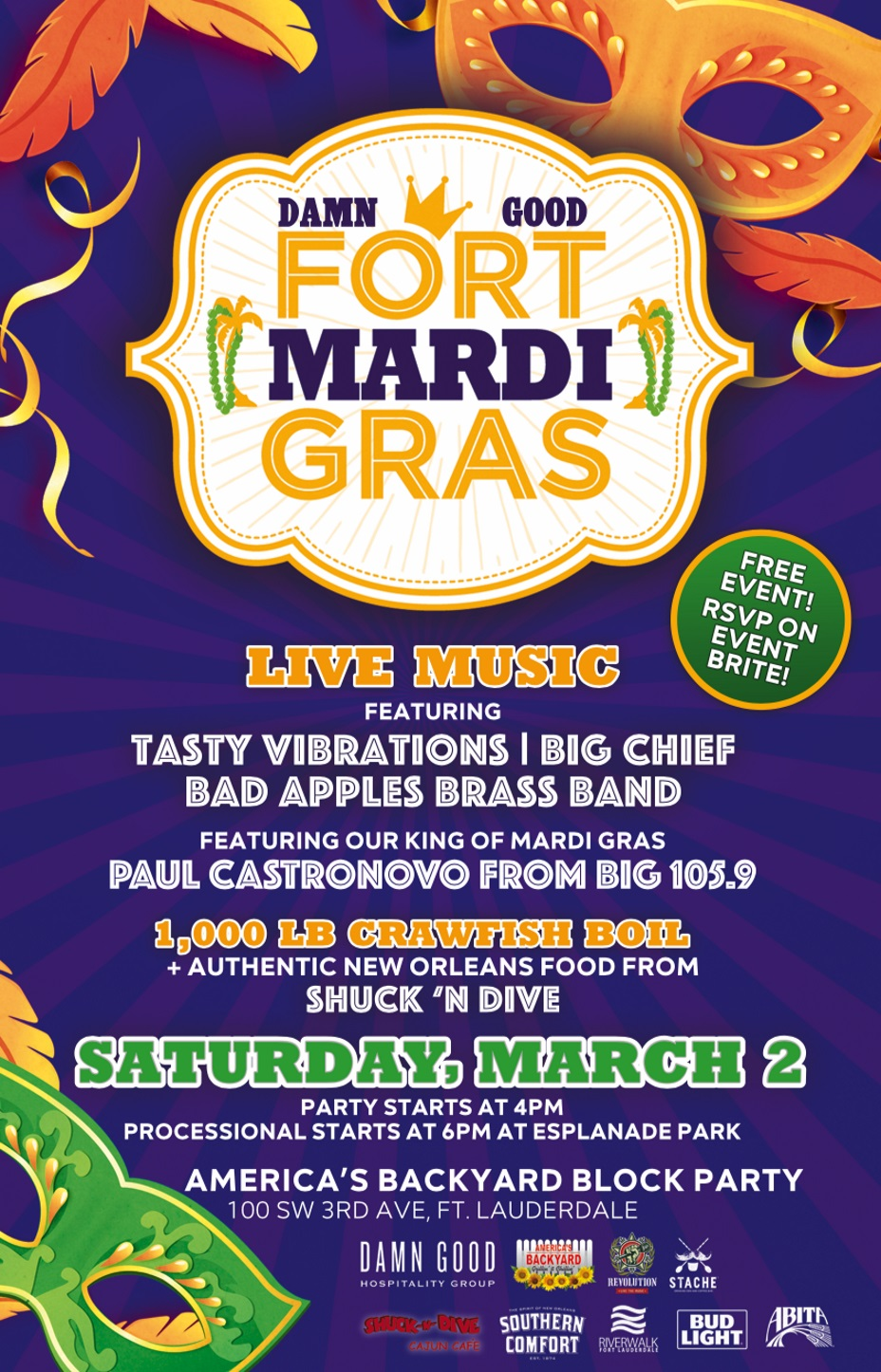 Image of the Fort Mardi Gras poster